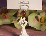 Enchanting Bride And Groom Design Favor Saver Place Card Holder baby favors