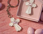 Pink Cross Design Favor Saver Key Chain Favors baby favors