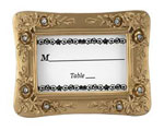 Gold Resin Place Card Holders - White With Rhinestones baby favors