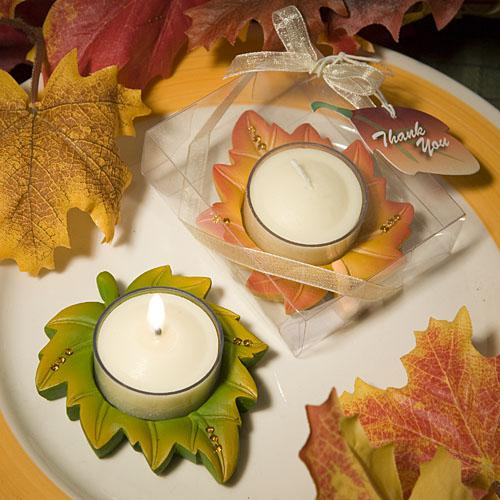 Fall Themed Wedding Ideas: Candle Baby Shower Favors