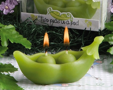Two Peas In A Pod Collection Candles baby favors