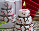 Cherry Blossom Design Cake Candle Favor baby favors
