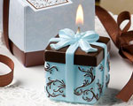 Brown And Blue Gift Box Collection Candle Favor baby favors
