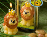Adorable King Of The Jungle Collection Candle Favors baby favors