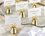 Gold Kissing Bells Place Card/Photo Holder (Set of 24) baby favors
