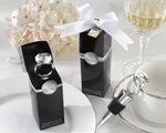 """With This Ring"" Chrome Diamond-Ring Bottle Stopper baby favors"