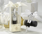 """Fleur-de-Lis"" Elegant Chrome Bottle Stopper baby favors"