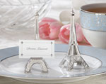 """Evening in Paris"" Eiffel Tower Silver-Finish Place Card/ Photo Holder baby favors"