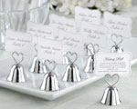 """Kissing Bell"" Place Card/Photo Holder baby favors"