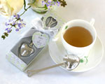 """Tea Time"" Heart Tea Infuser in  Tea-Time Gift Box baby favors"