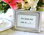 """Beautifully Beaded"" Photo Frame/Placeholder ""As seen in the hit movie 27 Dresses"" baby favors"