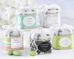 """Unexpected Treasures!"" Favor Tin with Pre-Tied Organza Bow baby favors"