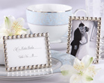 """Silver Pearls"" Mini Photo Frame baby favors"