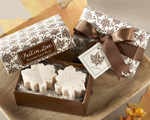 """Fall in Love"" Scented Leaf-Shaped Soaps baby favors"