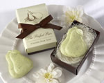 """The Perfect Pair"" Scented Pear Soap baby favors"