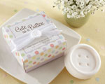 """Cute as a Button"" Scented Button Soap baby favors"