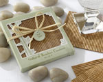 Natural Bamboo Eco-Friendly Coaster Favors (Four Coasters per Favor!) baby favors