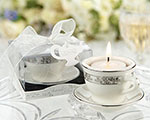 Teacups and Tealights Miniature Porcelain Tealight Holders baby favors