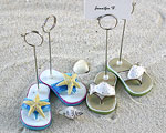 Beachcombers Flip Flop Placecard Holders - Set of 4 (2 pairs) baby favors