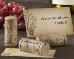 """Maison du Vin"" Wine Cork Place Card/Photo Holder with Grape-Themed Place Cards baby favors"