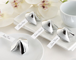 """Good Fortune"" Fortune Cookie Place Card Holder baby favors"