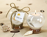 Sand and Shell Tealight Holder baby favors