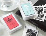 """Perfectly Suited"" Playing Cards in Personalized Travel Case  baby favors"