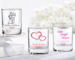 Personalized Shot Glass/ Votive Holder with over 40 Design Choices baby favors
