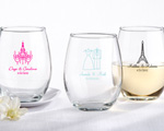 Personalized Stemless Wine Glass baby favors