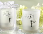 """Calla Lily"" Frosted-Glass Tealight Holder (Set of 4) baby favors"