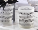 """Music of the Heart"" Frosted-Glass Tealight Holder (Set of 4) baby favors"