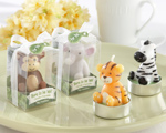 """Born to be Wild"" Animal Candles baby favors"
