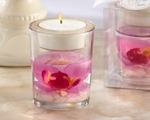"""Elegant Orchid"" Tealight Holder baby favors"