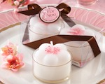 """Cherry Blossoms"" Flower Tea Lights (Set of 4) baby favors"
