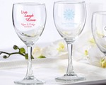 Personalized Wine Glass 8.5 oz baby favors