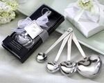 """Love Beyond Measure""  Heart-Shaped Measuring Spoons in Gift Box baby favors"